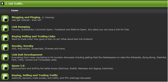 black hat blog traffic generation