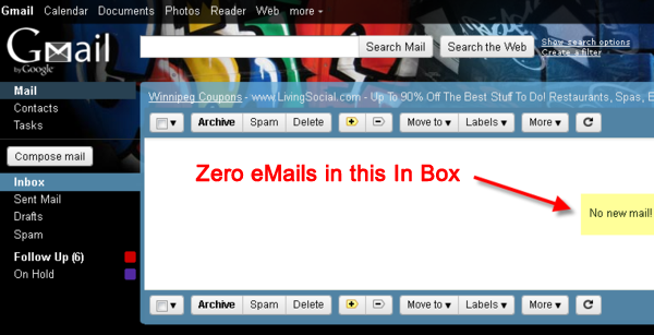 Gamial Inbox at Zero